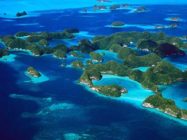 Laguna meridional de las Islas Rocosas (Palau)
